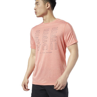 Remera One Series Running Reflective Move Fiery Orange EC2536