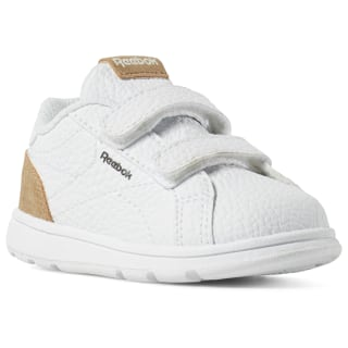 REEBOK ROYAL COMPLETE CLEAN White / Dark Brown / Tan DV4156