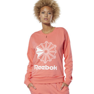 Classics French Terry Big Logo Crew Sweatshirt Bright Rose DT7245
