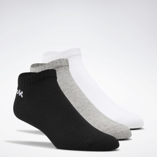 Active Core Low-Cut Socks 3 Pairs White / Black / Medium Grey Heather FL5225