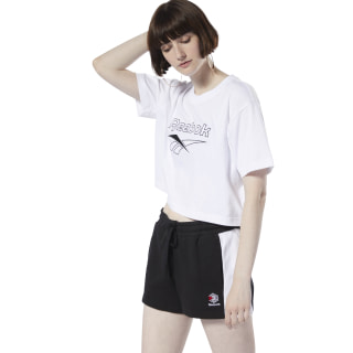 Classics Crop Tee White DY4112