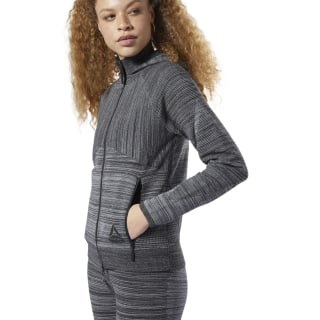 Sweat à capuche en maille Control Dark Grey Heather DY8182