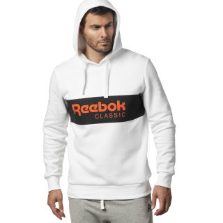 Classics R Unisex 'Over the Head' Hoodie White / Black DX0149