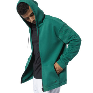 Худи Workout Ready Full-Zip Fleece clover green EC0859