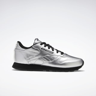Classic Leather Shoes Silver Metallic / Black / Silver Metallic EF9500