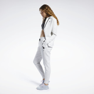 United by Fitness Woven Joggers White Melange FQ4461