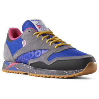 Кроссовки REEBOK CL LEATHER RIPPLE MU Multicolor/OUTDOOR-ASHGRY/BLUEMOVE/TWISTEDPNK/F.GOLD DV7140