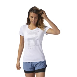 Camiseta gráfica reflectante Running White D78940