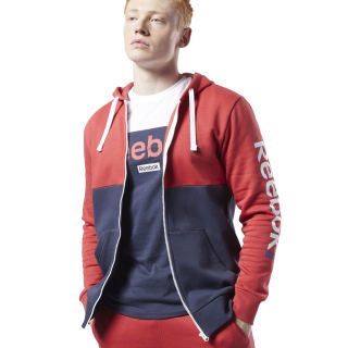 Felpa con cappuccio Training Essentials Linear Logo Rebel Red FI1957