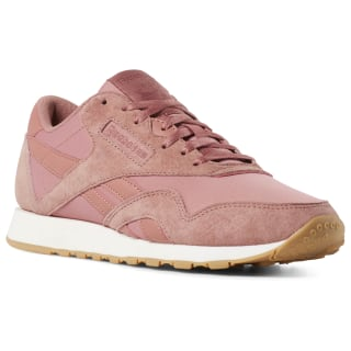 Tênis F Classic Leather Nylon sp tonal-baked clay / mysterious rose / pink / gum CN6884