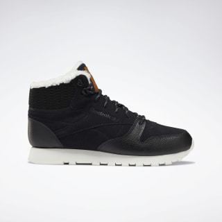 Кроссовки Reebok Classic Leather Arctic Boots Black / Black / Purple / Chalk DV7233
