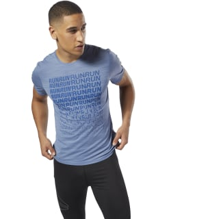 Remera Running ACTIVCHILL Graphic blue slate D92316