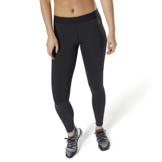 LES MILLS Bonded Mesh Tights Black DJ2189