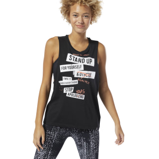 Stop Apologizing Muscle Tank Top Black DU4646