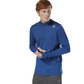 Bluza Running Quarter Zip Bunker Blue D92925
