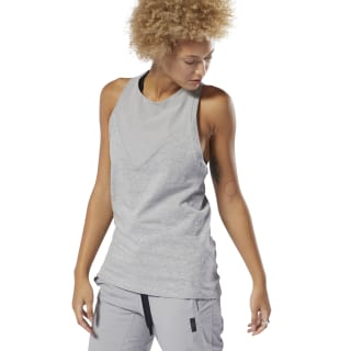 Training Supply Racer Tank Top Mgh Solid Grey DU4072