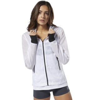 Running Wind Protection Jacket White DP6506