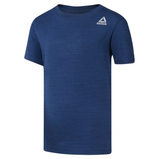 Boys Training Essentials Marble Melange T-Shirt Bunker Blue DH4347