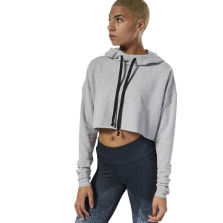 Sweat à capuche court - Danse Medium Grey Heather DU4501