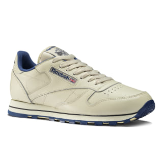Classic Leather Shoes Intense Ecru / Navy 28412