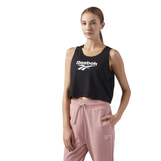 Essential Cropped Tank Black CF3957