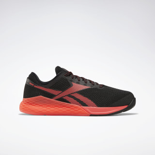 Reebok Nano 9 Men's Training Shoes Black / Neon Red / White FU6828