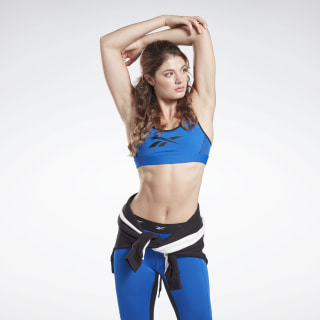 Reebok Hero Medium-Impact Racer Bra Humble Blue FK5314