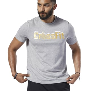 Reebok CrossFit® Christmas Tee Medium Grey Heather FJ9491