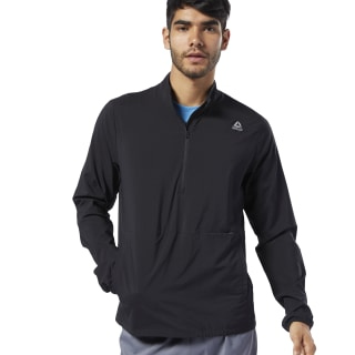 Veste coupe-vent en toile Running Essentials Black EC2555