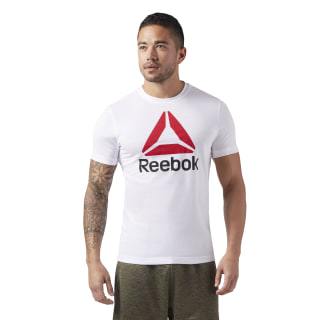 Camiseta QQR- Reebok Stacked White / Semi Solar Gold CW5367