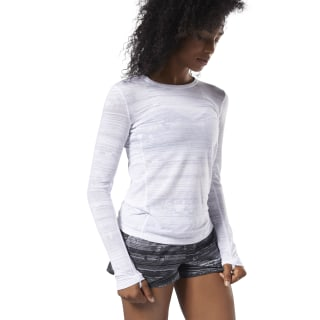 Burnout Long Sleeve Tee White CY2356
