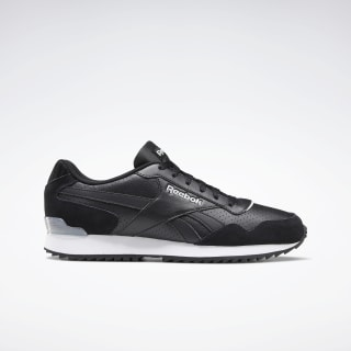 Reebok Royal Glide Ripple Clip Shoes Black / Pure Grey 2 / White EF7712