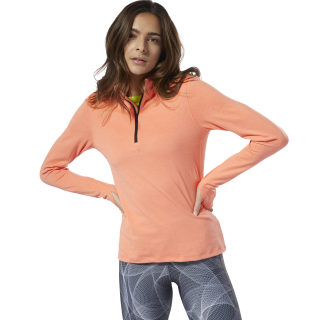 Running Essentials Quarter-Zip Top Stellar Pink DP6616
