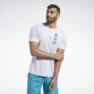 Reebok CrossFit® Get Out in Front Tee Light Grey Heather FK4329