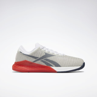 Nano 9.0 Schoenen White / Primal Red / Collegiate Navy EG3299