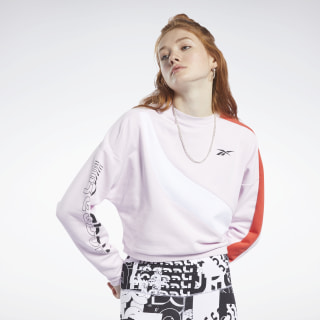 Meet You There Crew Sweatshirt Pixel Pink FJ2716