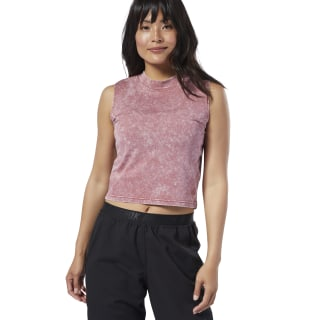 Studio Washed High Neck Tank Top Rose Dust DY8206