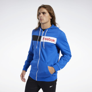 Training Essentials Linear Logo Hoodie Humble Blue FK6117