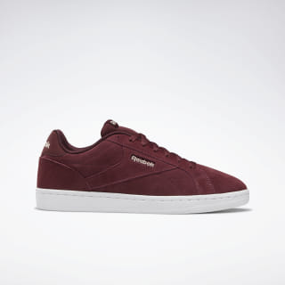 Reebok Royal Complete Clean LX Shoes Lux Maroon / Buff / White DV6855