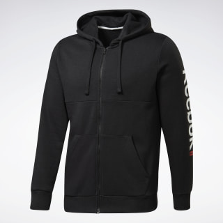 Training Essentials Linear Logo Hoodie Black FS1639