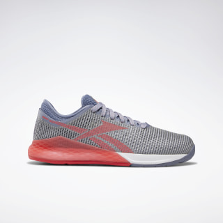Reebok Nano 9 Shoes - Grade School Grey / Blue / Coral / White DV6445