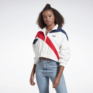 Classics Vector Cropped Track Jacket White / Collegiate Navy / Primal Red FL9428