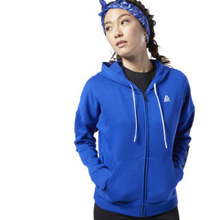 Sweat à zip intégral Training Essentials Cobalt FI2004