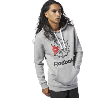 Sweat à capuche grand logo Reebok Classics Medium Grey Heather / Black DH2074