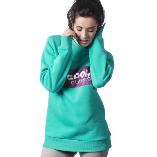 Sweat à col rond Classic Solid Teal DX2343