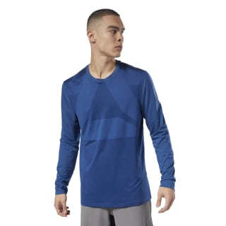 Reebok Combat Thermowarm Long Sleeve Tee Bunker Blue CY9967