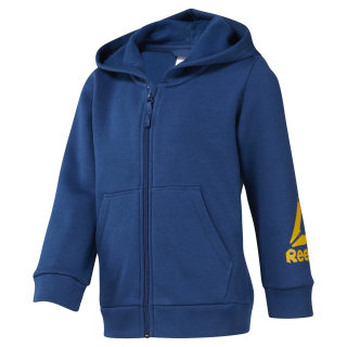Boys Training Essentials Fullzip Fleece Hoody Bunker Blue DJ3083