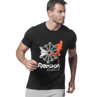 Classics R Unisex T-shirt Black / Energy Orange DX0142