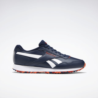 Reebok Royal Glide Ripple Shoes Collegiate Navy / Legacy Red / Vivid Orange EF7705