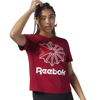 T-shirt imprimé d'un grand logo Classics Cranberry Red DH1349